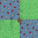 4 inch Ladybug Dew Fabric Quilt Craft Squares Cotton gd1