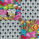 4 inch I Saw a Giraffe or Two Cotton Fabric Craft Squares  gd1