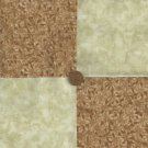 Earth Tone Leaves Beige 4 inch Cotton Fabric Quilt  Blocks Squares ms1