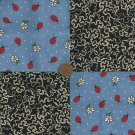 Path of the Ladybug Cotton Fabric Quilt Squares Novelty Block ms1