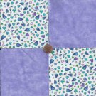 Passionate Little Lilac Hearts  4 inch 100% Cotton Novely Fabric  Squares FS2