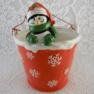 Ceramic Penguin Ice Cube Holder Bowl Container Christmas Decorations tblzz1