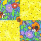 Whimsy Garden Sunshine and Stars 100% Cotton Crafting Fabric Squares  LP1 NEW