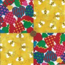 Bee True to Your Heart Novelty Cotton Novelty Fabric Quilt Craft Squares gd3
