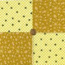 Golden Check Your Luck Shamrock Clover Cotton Novelty Fabric Squares my4