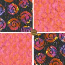 Fushia Pink Swirl  Cotton Fabric Novelty Craft Quilt Squares ZF1