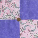 Magic Wand Princess Magic Medium Lavendar Fabric Quilt Squares Cotton Quilt ms1