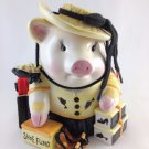 Ceramic Pig Shoe Fund Bank Money Fund Jar Shopping Hog Multi Colored tblwk1
