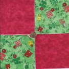 HO HO HO  Cheer and Red  4 inch 100% Cotton Novelty Fabric Quilt Squares TC1