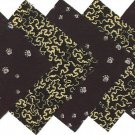 Animal Tracks and Paw Prints Fabric Quilt Squares OSR5