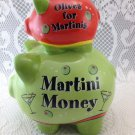 Martini Money Piggy Bank Olives for Martinis Colorful Bank  Condition Adorable