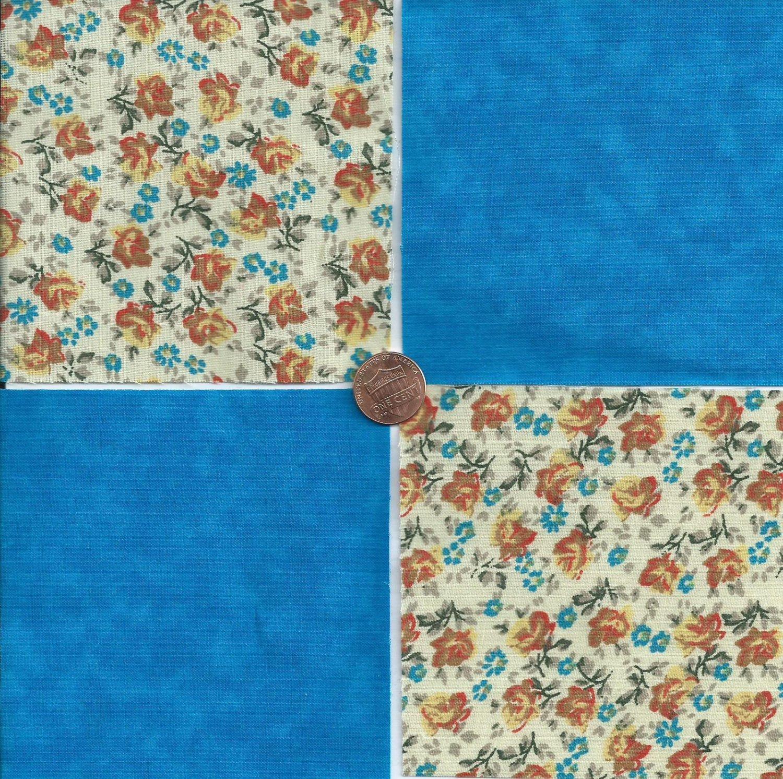20 4 inch Gold Floral Splash Fabric Quilt Craft Squares 100% Cotton OSR3