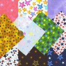 I Spy Star Stars Assortment  4 inch 100% Cotton Novelty Fabric Quilt Squares YW1
