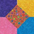 25 4 inch Moda Bright Stars Orange  Craft Fabric Squares  100% Cotton osr3
