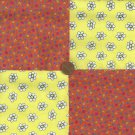 Daisy Daisies Large and Small 100% Cotton Novelty Fabric Quilt  ZE1
