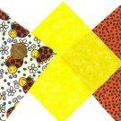 Colorful Ladybugs Flowers 100% Cotton Fabric Quilt Square Blocks FT