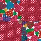 Hearts and Polka Dots Assortment Fabric Squares Blocks AW1