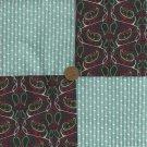 Paisley Flowers 4 inch Cotton Fabric Quilt Multi-Color Squares Block zk1