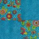Mod Butterfly Specs 4 inch Cotton Fabric Quilt Squares Novelty  ms1