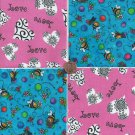 Sweet Bee and Love  Pink  4 inch 100% Cotton Novelty Fabric Quilt Squares TB1