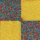 Sunshine and Roses Rose Flowers Cotton Fabric Quilt Craft Squares  gd1