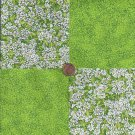 Delightful Daisies Green Speckles  100% Cotton Fabric Quilt Square Blocks FT