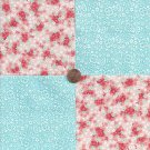 Flowers Beautiful Gentle Dainty 100% Cotton Fabric Quilt Square Blocks GE