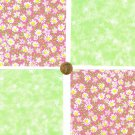 Daisies and Stars Fabric Novelty Quilt Squares Crafting Cotton Squares  zi1