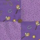Stick Pony Cowboy Horseshoe Stars Cotton Fabric Craft Squares CK
