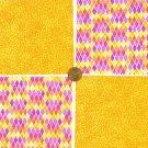 Jolly in Orange Stash Builder 4 inch100% Cotton Novelty Fabric Quilt Squares DE1