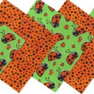 20 4 inch Lovely Ladybug Love 100% Cotton Fabric Quilt Squares osr3