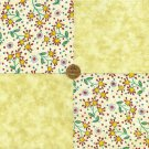 Cheerful Whimsy Star Flowers Bright 100% Cotton Fabric Quilt Squares LP1