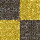 Gold and Grey Flowers Unique  4 inch 100% Cotton Fabric Squares Blocks LP1