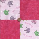 Assortment of Crowns  4 inch Cotton  Fabric Craft Quilt Squares Blocks wz1