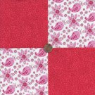 Paisley Pink Speckles Lovely 100% Cotton Fabric Quilt Square Blocks GE