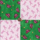 Speak About Breast Cancer Awareness Fabric Squares 100% Cotton osr3