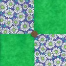 Daisies Bright Lime Green Fabric 100% Cotton Novelty Fabric Quilt zL1