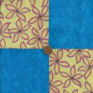 Warm Whimsy Blue Fabric Quilt Squares 4 inch Fabric   Craft Blocks  zB1