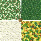 Gorgeous Ivy Assortment  Cotton Fabric Novelty Craft Quilt Squares ZF1