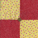 LOVE Hearts Flowers Retired Fabric Squares  Kit 100% Cotton  ZE1