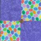 Colored Eggs and Light Purple  4 inch 100% Cotton Novely Fabric  Squares FS2