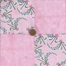 Princess Power Wand Pink 4 inch Fabric Quilt Squares Block zs1