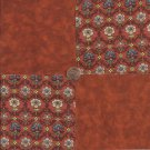Rustic Beauty Flowers  4 inch 100% Novelty Fabric Quilt Squares ffs1