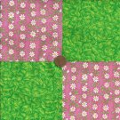 4 inch Leave n Daisy Fabric Quilt Squares Kit ZR1
