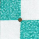 Turquoise Tone on Tone 4 inch Fabric Quilt Squares Craft  Block rbx2