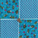 Sweet Bee in Blue  4 inch 100% Cotton Novelty Fabric Quilt Squares TB1