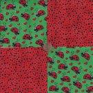 Lovely Little Ladybug Lady Bug 100% Cotton Fabric Quilt Square Blocks kit  EU
