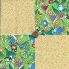 Cheerful Garden Speckled  4 inch 100% Cotton Novelty Fabric Quilt Squares kW1