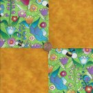 Golden Springtime 4 inch Cotton Fabric Craft Quilt Squares Blocks wz1