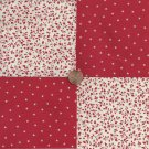 Redwork Stars  4 inch Cotton Fabric Craft Quilt Squares Blocks wz1